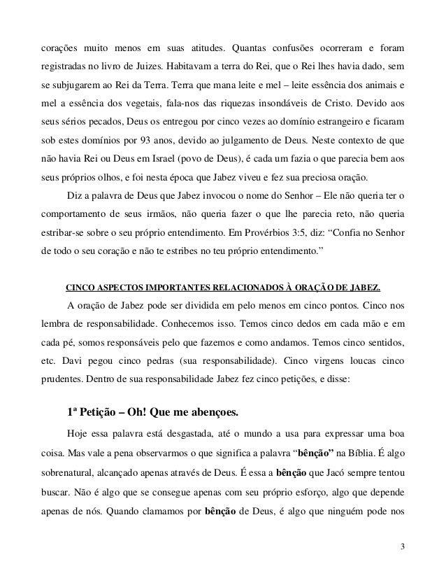 ORACAO JABEZ LIVRO DE A BAIXAR