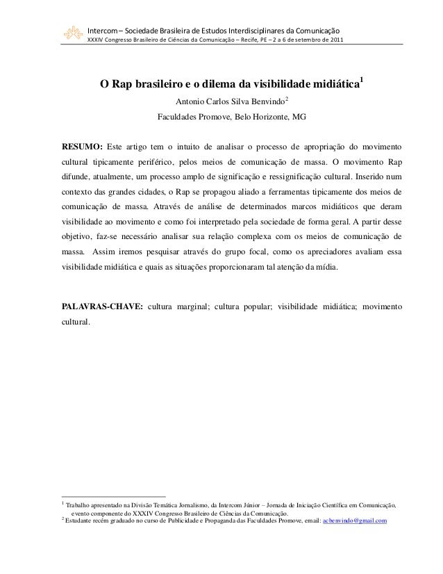 Intercom – Sociedade Brasileira de Estudos Interdisciplinares da Comunicação XXXIV Congresso Brasileiro de Ciências da Com...