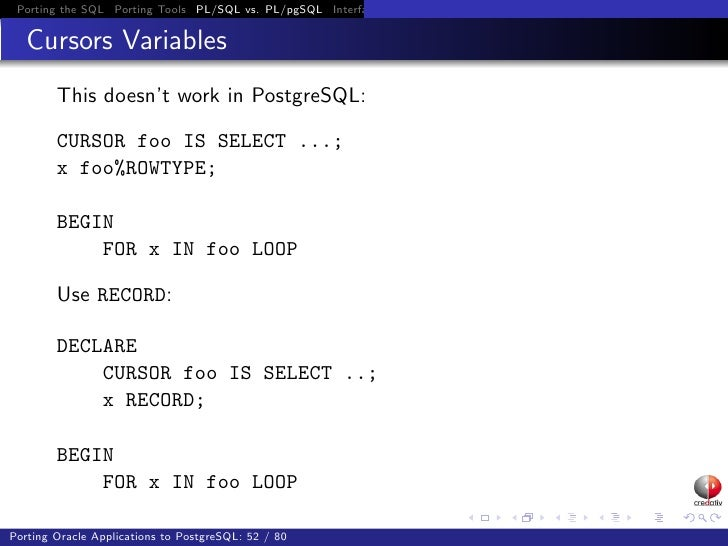 Porting Oracle Applications to PostgreSQL