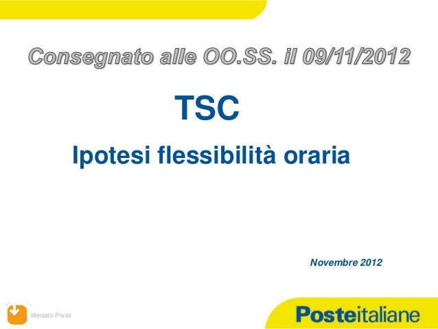 TSC                  Ipotesi flessibilità oraria                                         Novembre 2012Mercato Privati