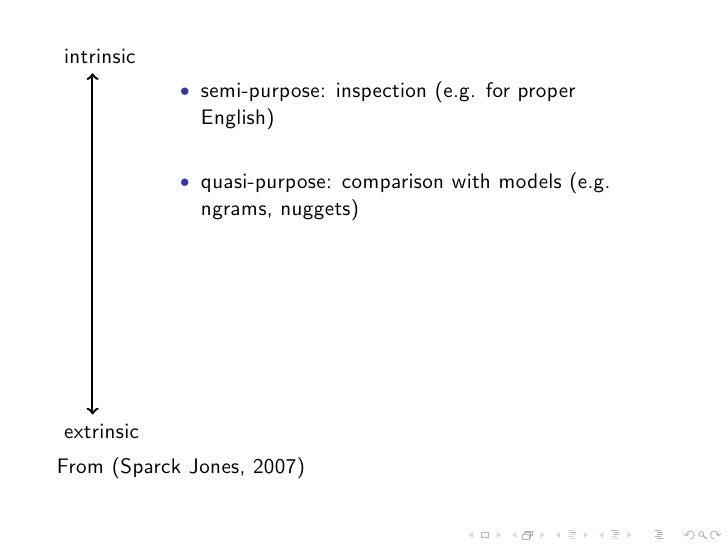 intrinsic             • semi-purpose: inspection (e.g. for proper               English)              • quasi-purpose: com...