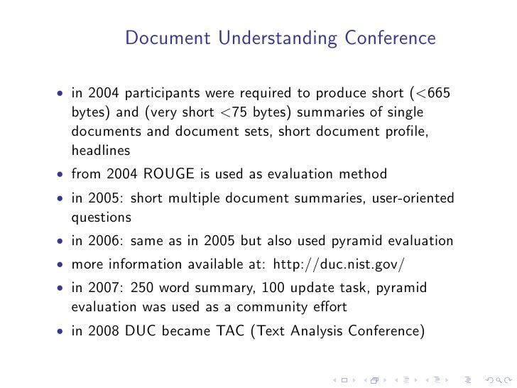Ideal summary processing model            Source text(s)                  Interpretation       Source representation      ...