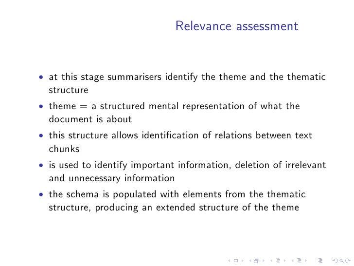 Single-document summarisation            methods