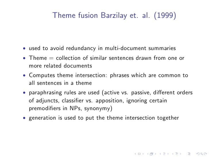 • New research topics have emerged at the confluence of   summarisation with other disciplines (e.g. question answering   a...