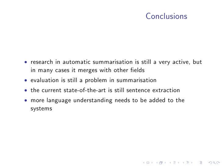 Endres-Niggemeyer, Brigitte. 1998. Summarizing information. Springer. Fukusima, Takahiro and Manabu Okumura. 2001. Text Su...