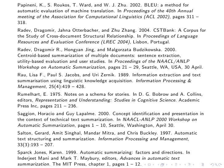 Tutorial on automatic summarization