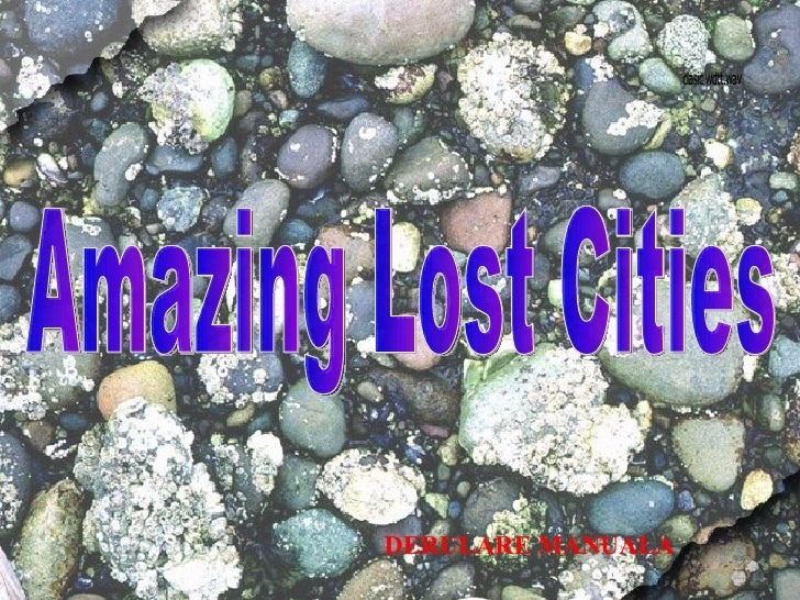 Amazing Lost Cities  DERULARE MANUALA