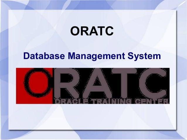 ORATC Database Management System