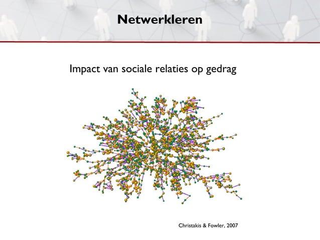 NetwerklerenImpact van sociale relaties op gedrag                        Christakis & Fowler, 2007