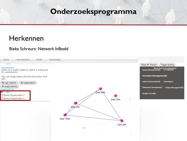 OnderzoeksprogrammaHerkennenBieke Schreurs: Netwerk InBeeld