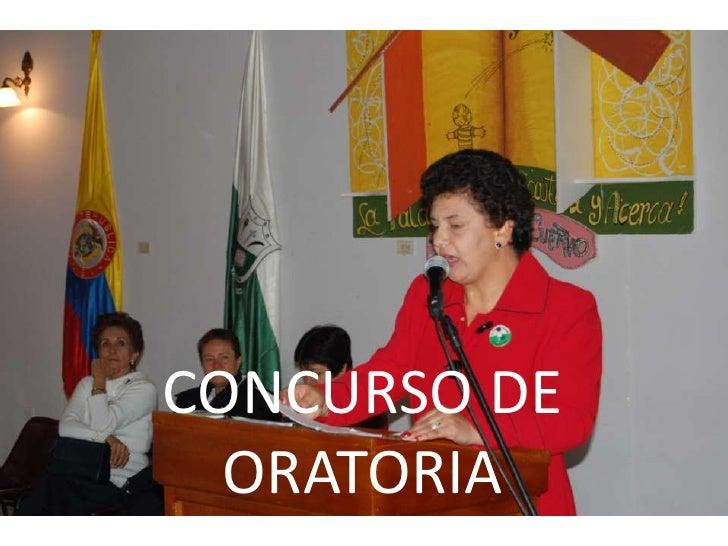 CONCURSO DE ORATORIA <br />