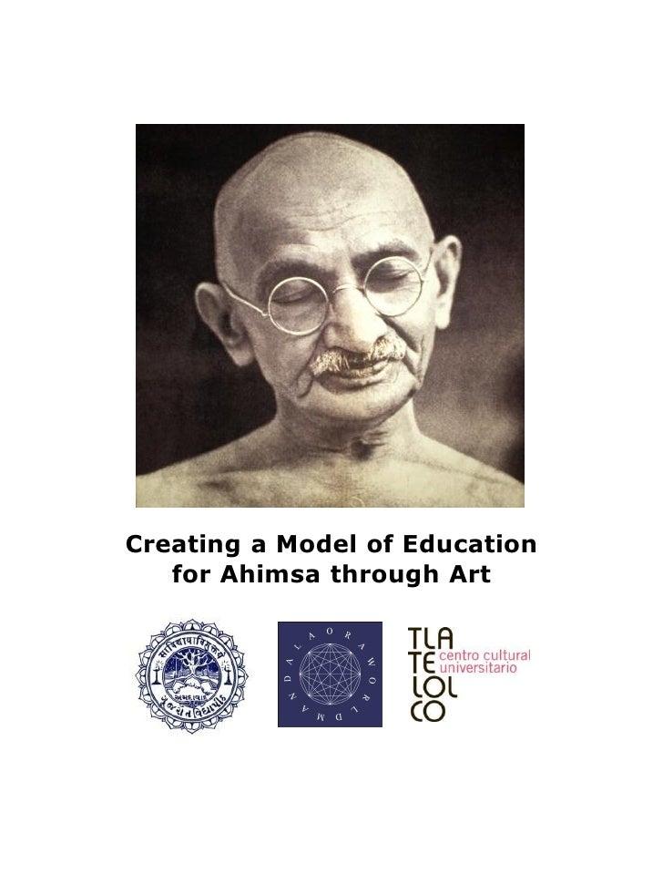 Creating a Model of Education   for Ahimsa through Art