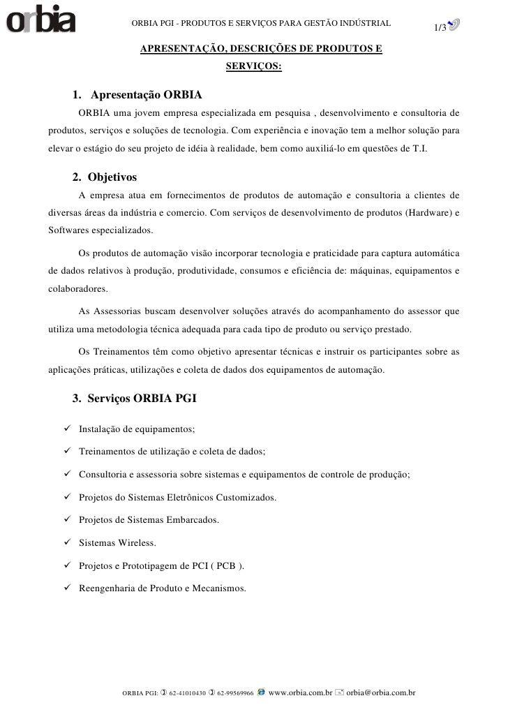 ORBIA PGI - PRODUTOS E SERVIÇOS PARA GESTÃO INDÚSTRIAL                                                                    ...