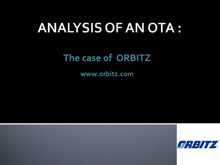 The case of  ORBITZ www.orbitz.com