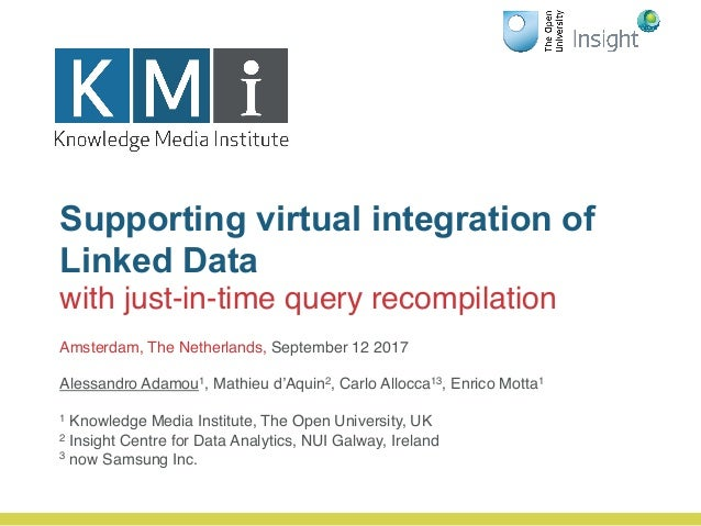 Supporting virtual integration of Linked Data with just-in-time query recompilation Amsterdam, The Netherlands, September ...