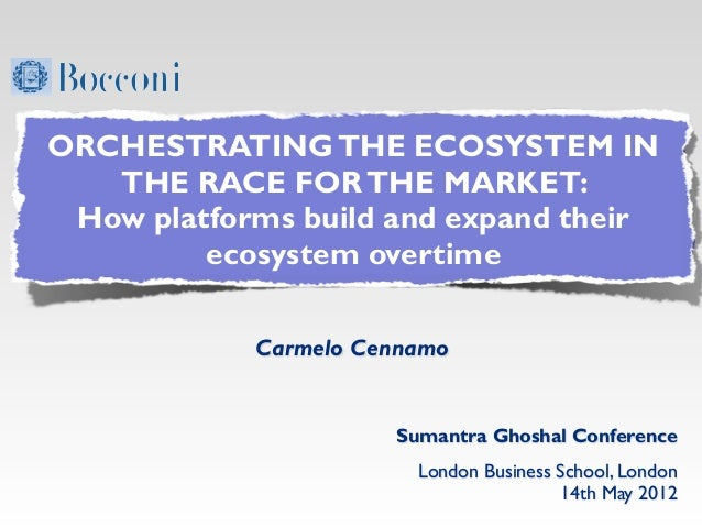 ORCHESTRATING THE ECOSYSTEM IN   THE RACE FOR THE MARKET: How platforms build and expand their         ecosystem overtime ...