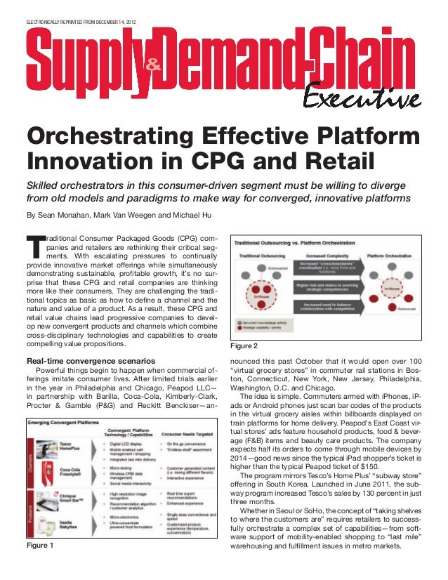 ELECTRONICALLY REPRINTED FROM DECEMBER 14, 2012Orchestrating Effective PlatformInnovation in CPG and RetailSkilled orchest...