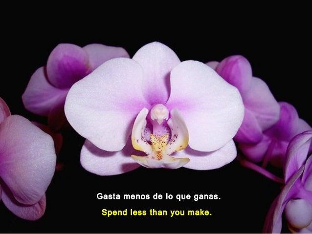 Gasta menos de lo que ganas.Spend less than you make.