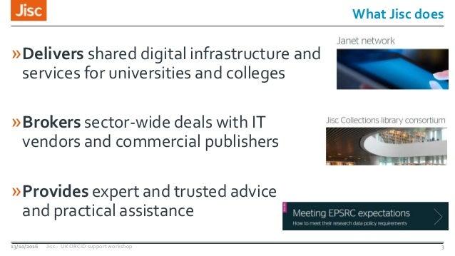 The Jisc UK ORCID consortium: Workshop 2 Slide 3