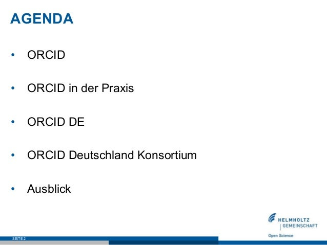 ORCID DE –  Stand und Perspektive Slide 2