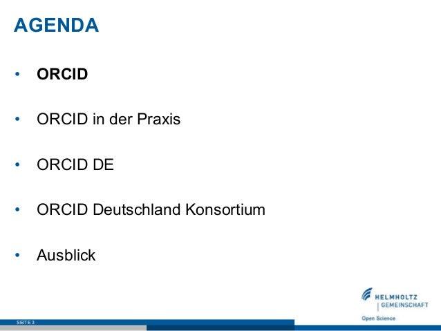 ORCID DE –  Stand und Perspektive Slide 3