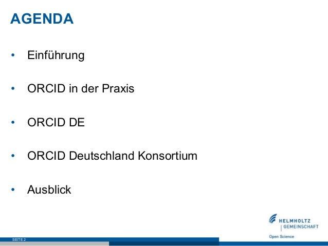 ORCID DE – Stand des Projektes Slide 2