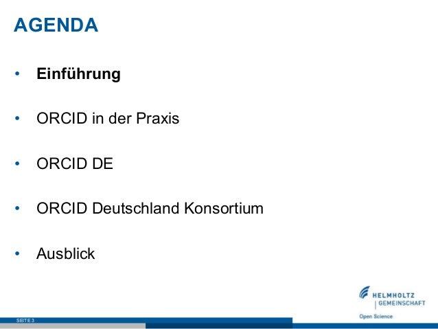 ORCID DE – Stand des Projektes Slide 3