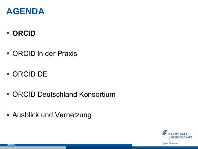 ORCID in Deutschland - Stand und Perspektive  Slide 3