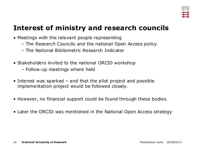 Interest of ministry and research councils  • Meetings with the relevant people representing  – The Research Councils and ...