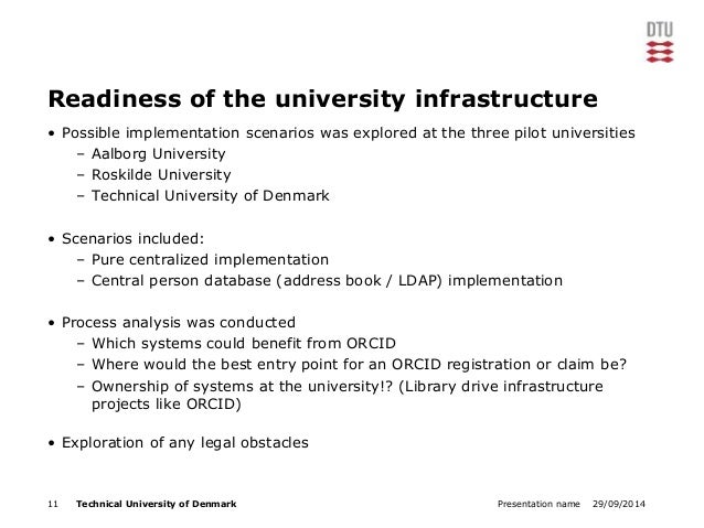 Readiness of the university infrastructure  • Possible implementation scenarios was explored at the three pilot universiti...