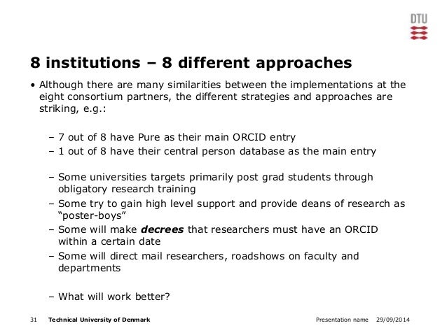 8 institutions – 8 different approaches  • Although there are many similarities between the implementations at the  eight ...