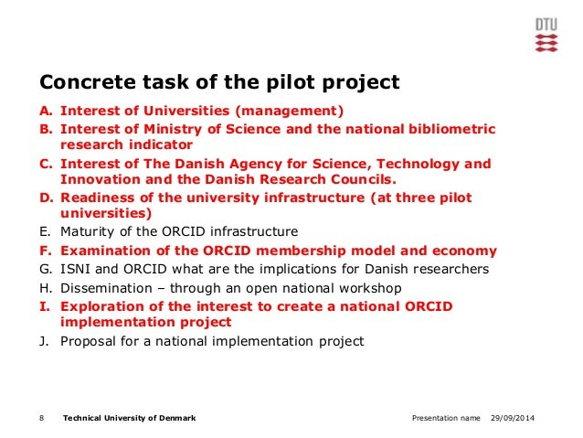 Concrete task of the pilot project  A. Interest of Universities (management)  B. Interest of Ministry of Science and the n...