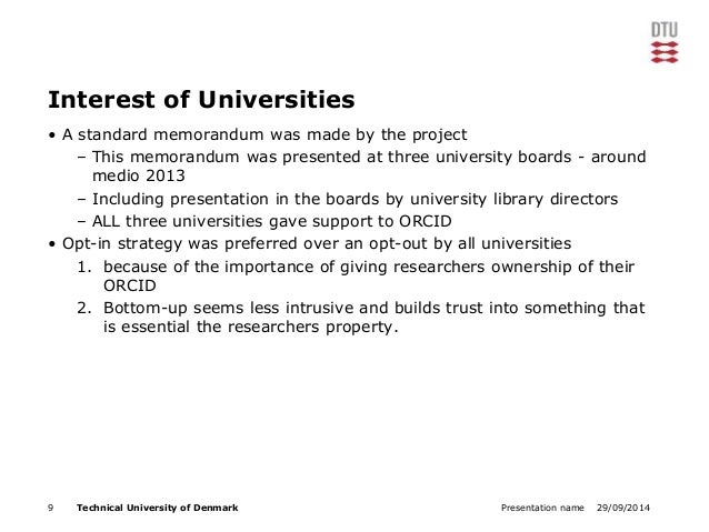 Interest of Universities  • A standard memorandum was made by the project  – This memorandum was presented at three univer...