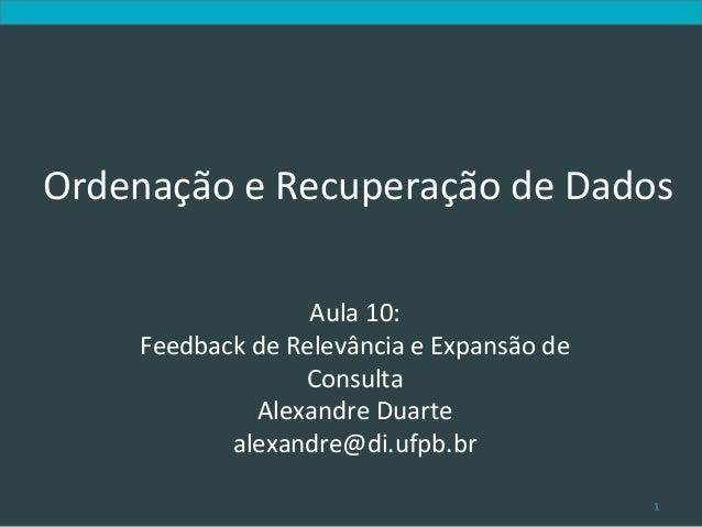 Introduc)on to Informa)on Retrieval                                         Ordenação e Recuperação ...