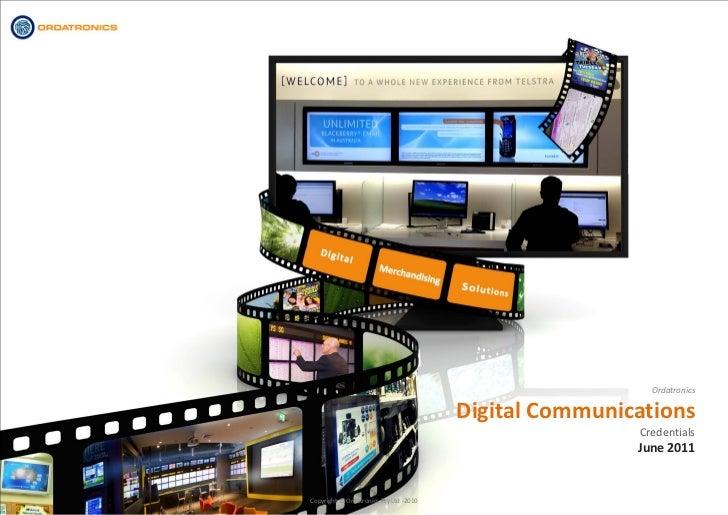 Ordatronics                                        Digital Communications                                                 ...