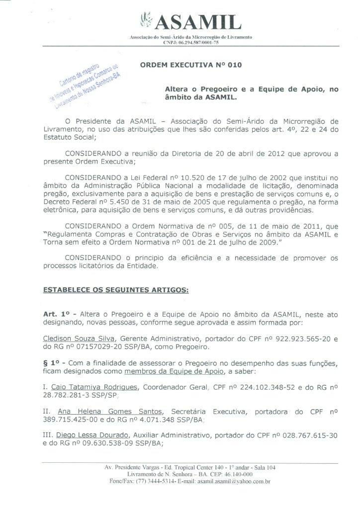 Ordem executiva nº 10