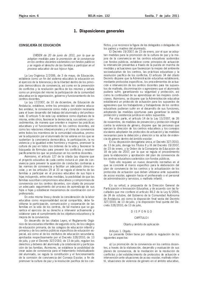 Página núm. 6 BOJA núm. 132 Sevilla, 7 de julio 2011  1. Disposiciones generales  CONSEJERÍA DE EDUCACIÓN  ORDEN de 20 de ...