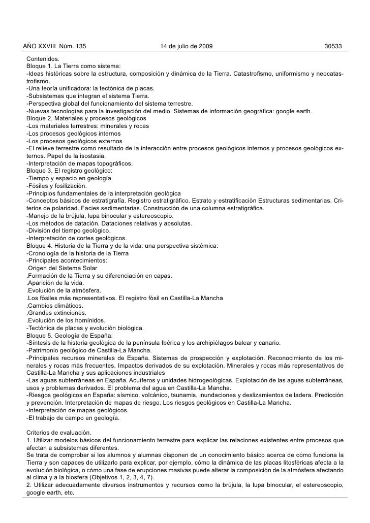 Orden 30 06-2009 curriculo optativas bachillerato castilla la mancha