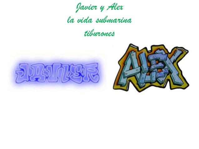 Javier y Alexla vida submarinatiburones