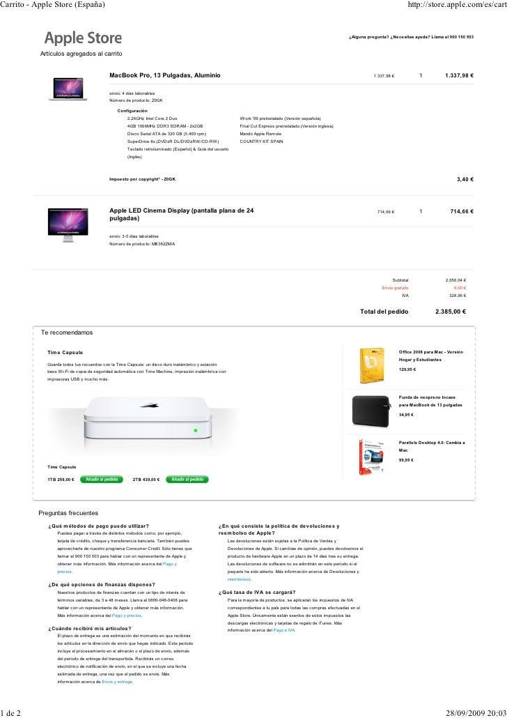 Carrito - Apple Store (España)                                                                                            ...