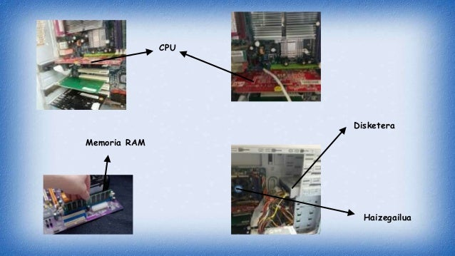 Memoria RAM CPU Disketera Haizegailua