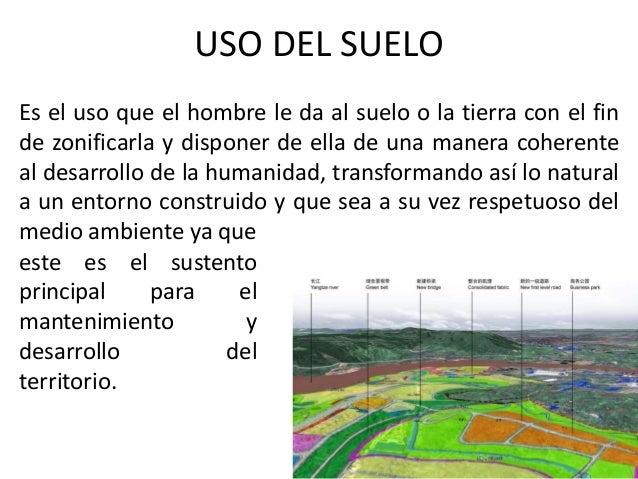 ordenamiento territorial y uso del suelo
