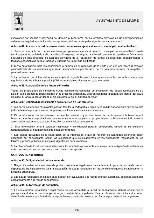 Licencia de apertura madrid latest ordenanza de with - Licencia apertura local madrid ...