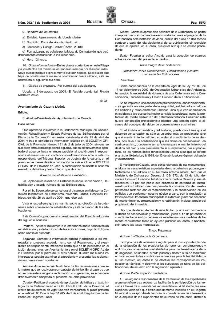 Núm. 202 / 1 de Septiembre de 2004                   BOLETÍN                  OFICIAL                                     ...