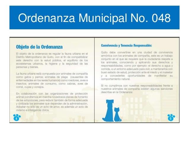 Ordenanza Municipal No. 048