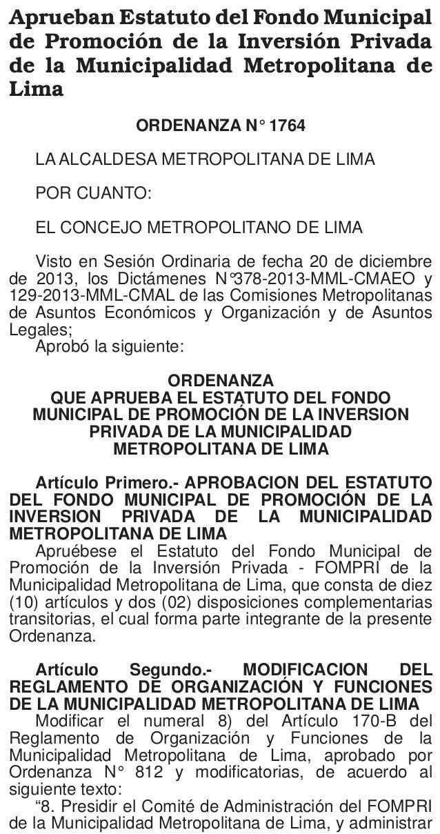El Peruano Lunes 13 de enero de 2014  cargos de confianza, surten efecto a partir del día de su publicación en el Diario O...