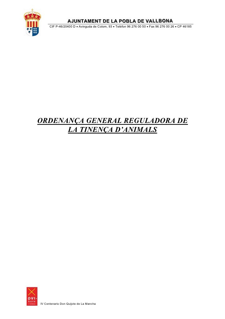 AJUNTAMENT DE LA POBLA DE VALLBONA                  AJUNTAMENT DE LA POBLA DE VALLBONA      CIF P-46/20400 D • Avinguda de...