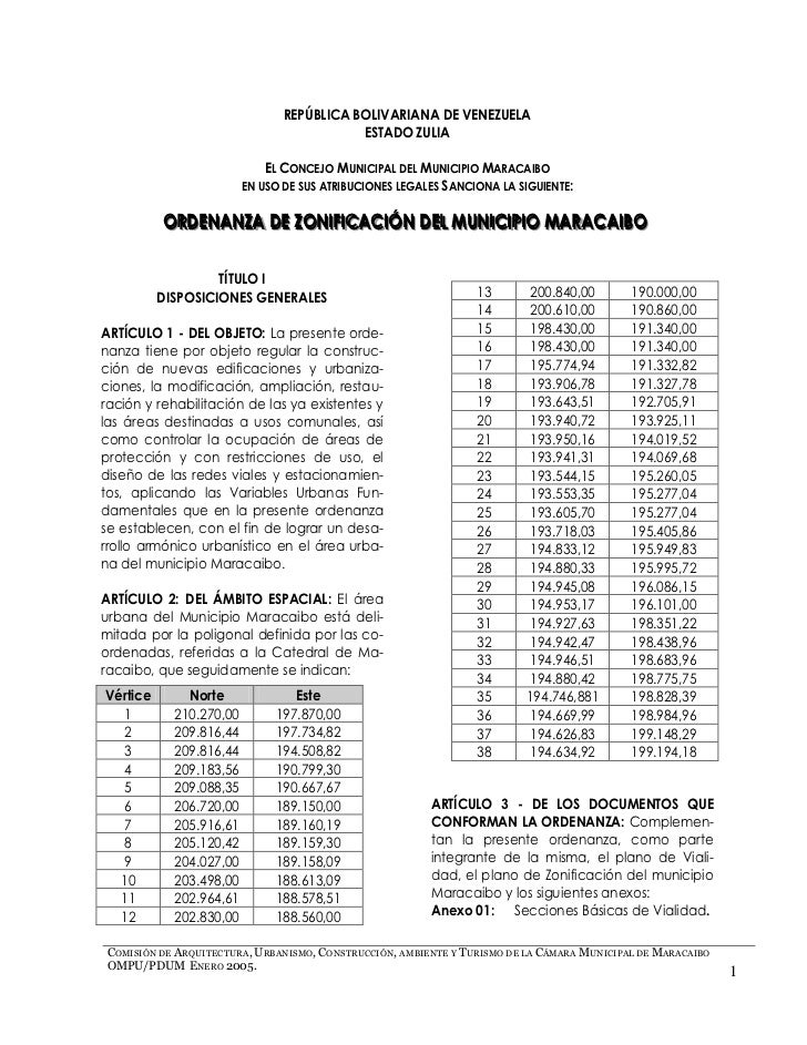 REPÚBLICA BOLIVARIANA DE VENEZUELA                                           ESTADO ZULIA                             EL C...