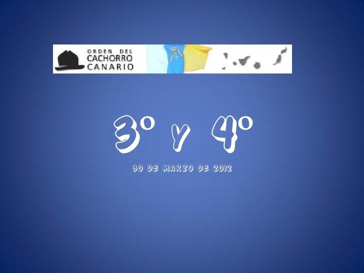 3º y 4º 30 de Marzo de 2012