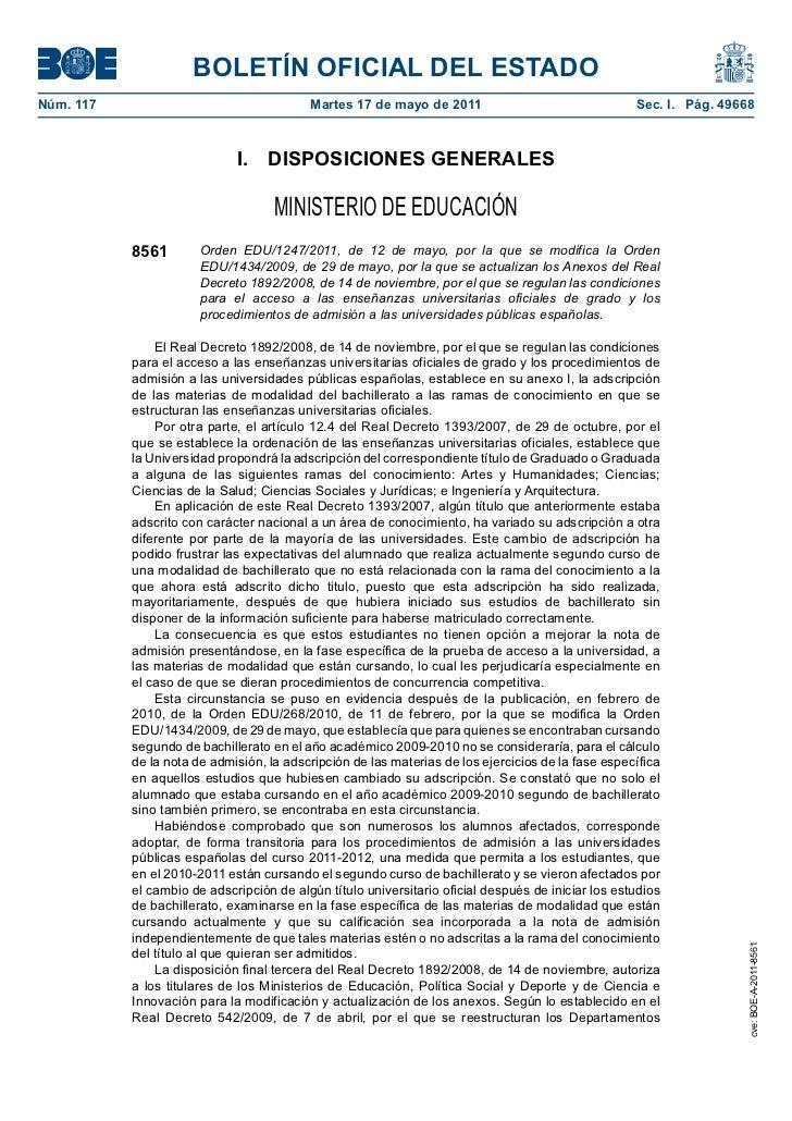 BOLETÍN OFICIAL DEL ESTADONúm. 117                                  Martes 17 de mayo de 2011                             ...